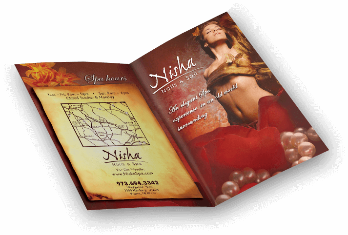 Nisha Nails Salon Brochure